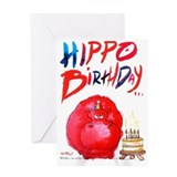HIPPO BIRTHDAY - Greeting Card