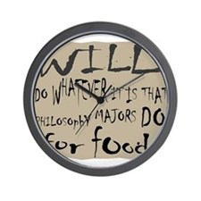 Homeless Philosopy Major Wall Clock