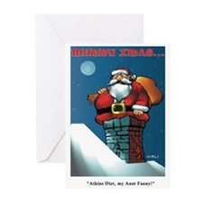 STUCK SANTA' - Greeting Cards (Pk of 10)