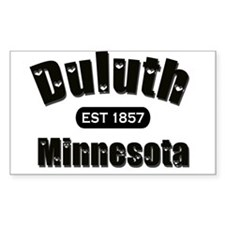 Duluth Established 1857 Rectangle Decal