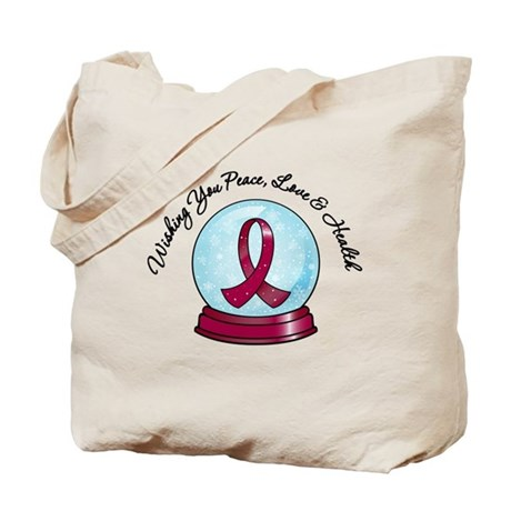 Snowglobe Multiple Myeloma Tote Bag