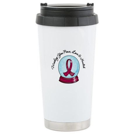 Snowglobe Multiple Myeloma Ceramic Travel Mug