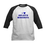 I Love Duluth Winter Kids Baseball Jersey
