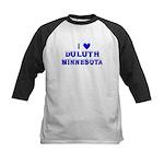 I Love Duluth Winter Kids Baseball Jersey