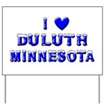 I Love Duluth Winter Yard Sign