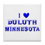I Love Duluth Winter Tile Coaster