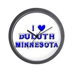 I Love Duluth Winter Wall Clock
