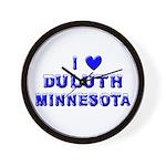I Love Duluth Winter Wall Clock
