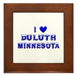 I Love Duluth Winter Framed Tile