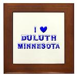 I Love Duluth Winter Framed Tile