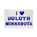 I Love Duluth Winter Rectangle Magnet