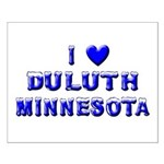I Love Duluth Winter Small Poster