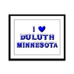 I Love Duluth Winter Framed Panel Print