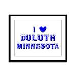 I Love Duluth Winter Framed Panel Print
