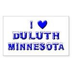 I Love Duluth Winter Rectangle Sticker 10 pk)