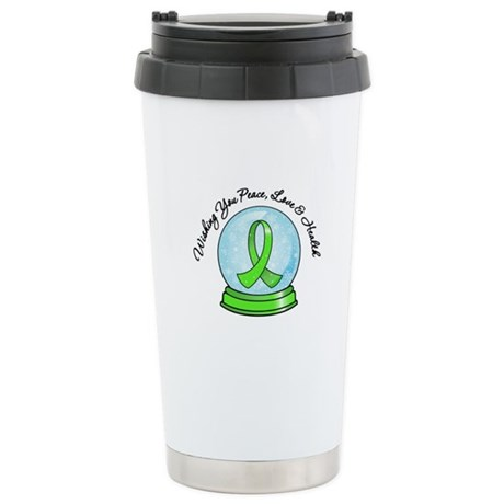 Snowglobe Lymphoma Ceramic Travel Mug