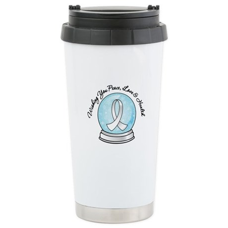 Snowglobe Lung Cancer Ceramic Travel Mug