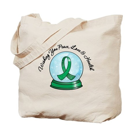 Snowglobe Liver Cancer Tote Bag