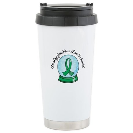 Snowglobe Liver Cancer Ceramic Travel Mug