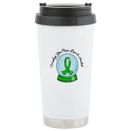 Snowglobe Kidney Cancer Ceramic Travel Mug