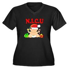 N.I.C.U. Women's Plus Size V-Neck Dark T-Shirt