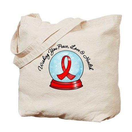 Snowglobe Heart Disease Tote Bag