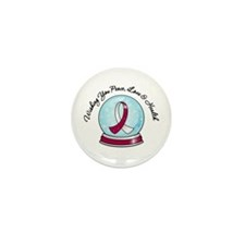 Snowglobe HeadNeckCancer Mini Button (100 pack)