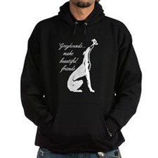 Greyhound Hoodie/Butterfly (dark)
