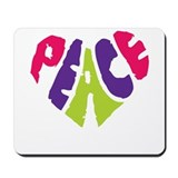 Light Peace Heart Mousepad