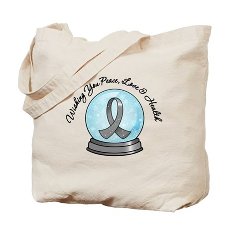 Brain Cancer Snowglobe Tote Bag