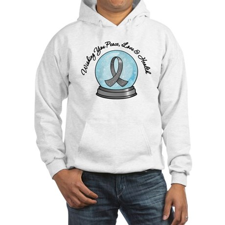 Brain Cancer Snowglobe Hooded Sweatshirt