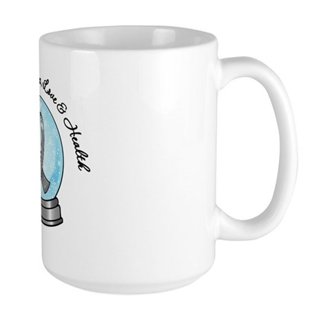 Brain Cancer Snowglobe Large Mug