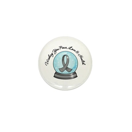 Brain Cancer Snowglobe Mini Button (10 pack)