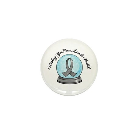 Brain Cancer Snowglobe Mini Button (100 pack)