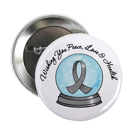 Brain Cancer Snowglobe 2.25&quot; Button