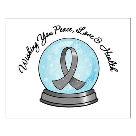 Brain Cancer Snowglobe Small Poster