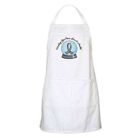 Brain Cancer Snowglobe Apron