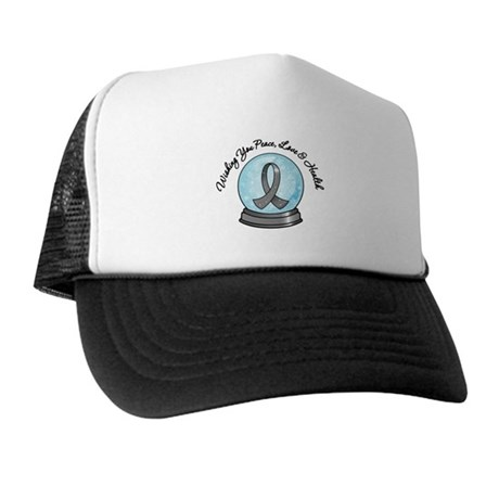 Brain Cancer Snowglobe Trucker Hat