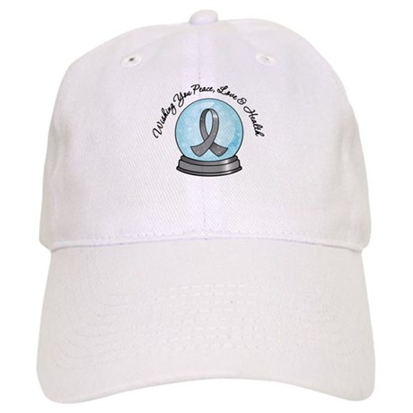 Brain Cancer Snowglobe Cap