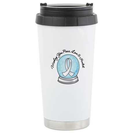 Bone Cancer Snowglobe Ceramic Travel Mug