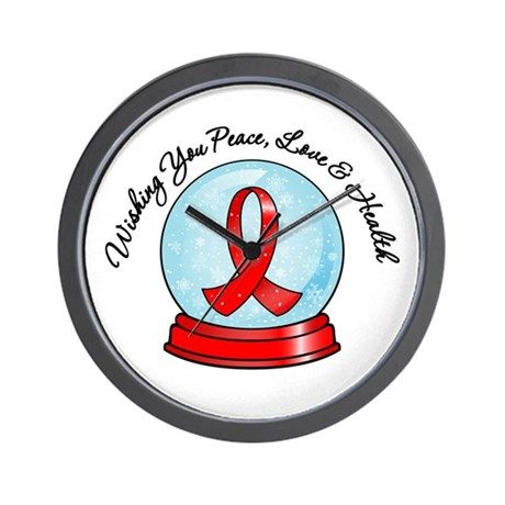 AIDS Snowglobe Wall Clock