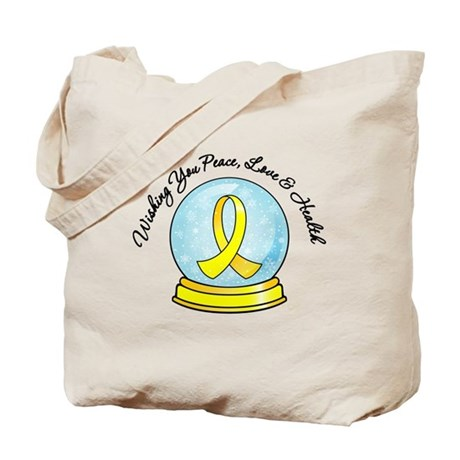 Bladder Cancer Snowglobe Tote Bag
