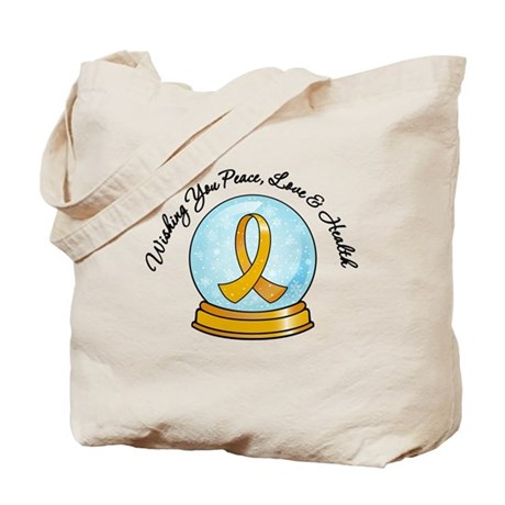 Appendix Cancer Snowglobe Tote Bag