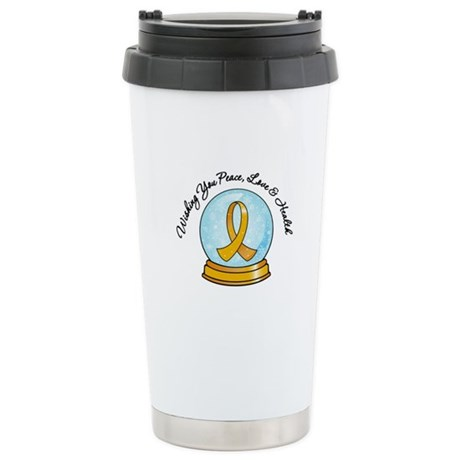 Appendix Cancer Snowglobe Ceramic Travel Mug
