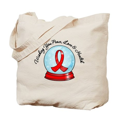 Blood Cancer Snowglobe Tote Bag