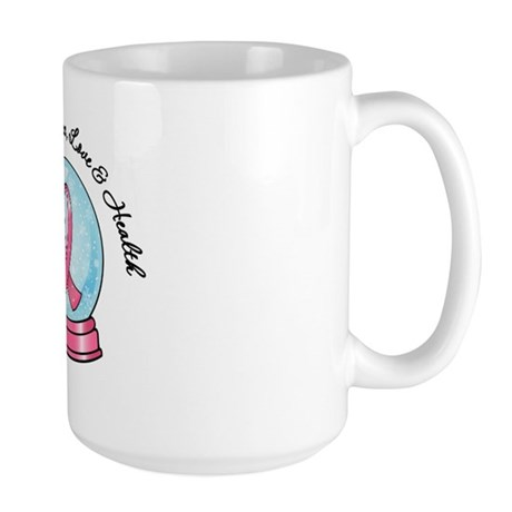 Snowglobe Breast Cancer Large Mug