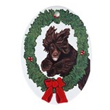Unique Irish water spaniel Oval Ornament