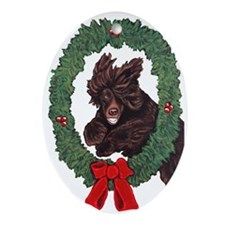 Cute Dogs Oval Ornament