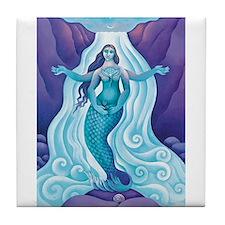 Awakened Aphrodite Tile Coaster