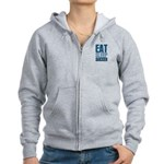 EAT SLEEP SOCCER Women's Zip Hoodie